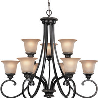 "0-033896>32""w Hastings 2 Tier Chandelier Phoenix"