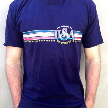 Vintage 1984 Team USA Los Angeles '84 Olympics T Shirt