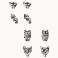 Feather & Wildlife Earring Set | FOREVER 21 - 1076670498
