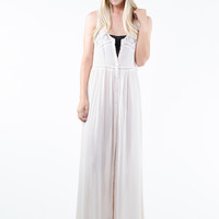Natural Button-Up Maxi
