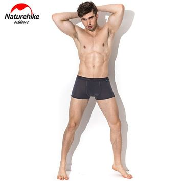 Naturehike Men Brief Shorts Coolmax Quick-Drying Breathable Antibacterial Sports Shorts Boxer for Running Climbing Hiking Camp