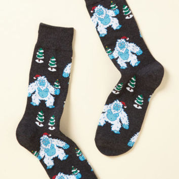 Can't We All Yeti Along? Men's Socks | Mod Retro Vintage Mens SS Shirts | ModCloth.com