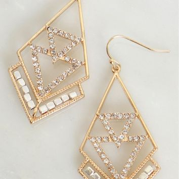 Abstract Drop Earrings
