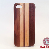 "Eco friendly iPhone 5 / 5S Case ""Racing Stripes"" - wooden iphone case,iphone 5 case,iphone case wood,case wooden iphone"