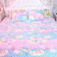 2018 Sanrio Little Twin Stars Soft Flannel Blanket Bed Sheet Bedding Girls Gifts