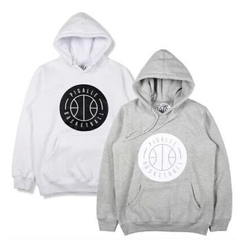 Indie Designs Pigalle Basketball Printed Hooded Sweatshirt