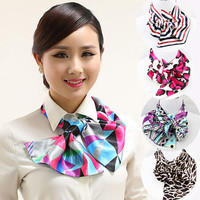 16 colors Magic Satin Silk Scarf  cravat Scarf  Women Commercial neck tie office lady Bow Tie for Occupation