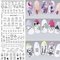 Tribal Nail Stickers Geometric Nail Stickers Water Decals Geometrical Nail Sticker Water Stickers for Nails ZJT025