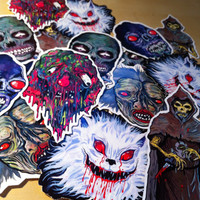 FEATURE CREATURES Series 3 - Cult Horror Sticker 6-Pack