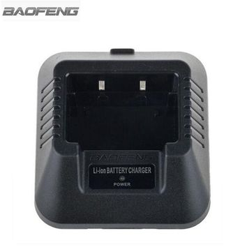 ONETOW Baofeng Li-ion Battery Charger Base Adapter For BAOFENG UV-82 UV-5R UV-B5 UV-B6 BF-888S Walkie Talkie Two Way Radio EU USA plug