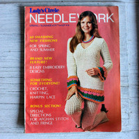 groovy 1970s pattern magazine Ladies Circle Needlework : knitting crocheting ladies fashions