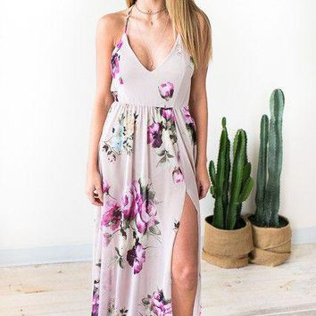 Nights With You Floral Maxi Dress