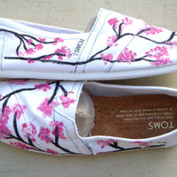 The Sophie - Cherry Blossom Custom TOMS