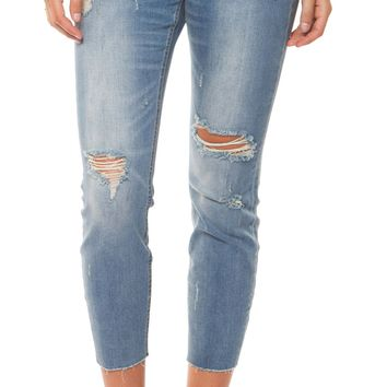 Pheonix Relaxed Crop Jeans - Light Blue by Dex Black Tape