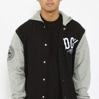 DGK, Dropout Letterman Hooded Jacket - Black - Men's Wear - MOOSE Limited