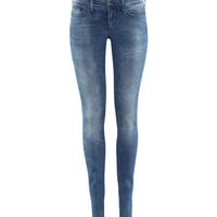 H&M - Super Skinny Super Low Jeans - Denim blue - Ladies