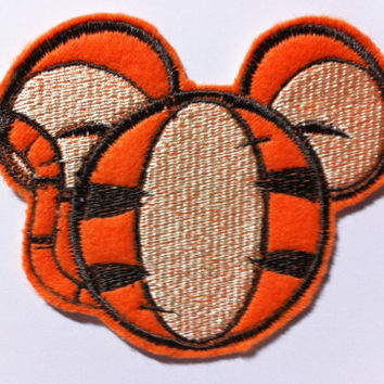 Disney Tigger Inspired Embroidered Mouse Ear Patch - Winnie the Pooh