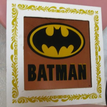 1980s Batman Carnival Mirror Copper colored by JunkStoreAddict