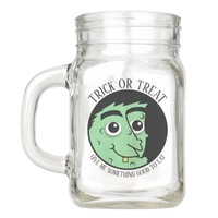 Witch Face Trick or Treat Mason Jar