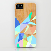 Wooden Geo Aqua iPhone & iPod Case by House Of Jennifer | Society6