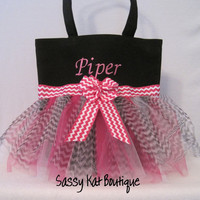 Personalized dance bag-Chevron stripe