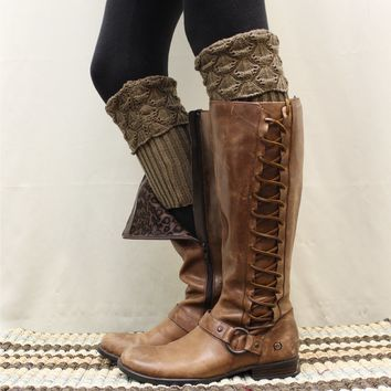 SPICE knit boot cuffs - nutmeg