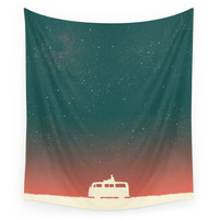 Society6 Quiet Night - Starry Sky Wall Tapestry