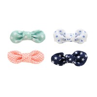 Carter's 4-pk. Print Bow Hair Clips - Baby Girl, Size: One Size (Star)