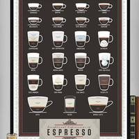 Exceptional Expressions of Espresso Poster (18 x 24 Print)