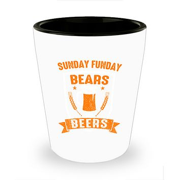 Sunday Funday Chicago Football and Beers Drinking Shot Glass