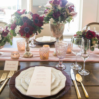 Blush Silk Table Runner