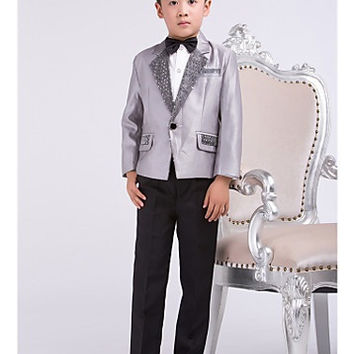 Four Pieces Gray Ring Bearer Suit Boys Tuxedo