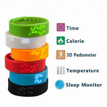 Hot Slims Smart Bracelet Watch Pedometer Walking Distance Calorie Counter Activity Tracker Time Display 6 colors Free Shipping