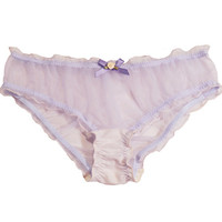Sheer Lilac Ruffled Panties