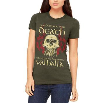 CUPUPWL Viking Death Valhalla Juniors Soft T Shirt