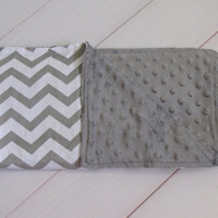 Sale- Grey Minky Blankets, perfect for newborns, carseat cover, strollers, or to let your baby play