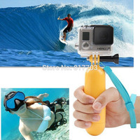 Yellow Water Floating Hand Grip Handle Mount Float Accessory for Gopro Hero 4/3+/3/2/1 Go pro Camera Sj4000 Sj5000 Sj6000 Sj7000