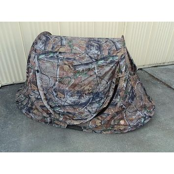 Lucky Bums Quick Camp Tent 1 Man Brown/Black Fits 2 Kids 100% Polyester -- Used