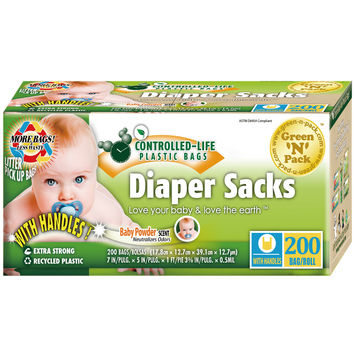 Eco-Friendly Bags Disposable Diaper Bags - Scented - 200 Pack