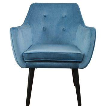 Jace Blue Velvet Chair