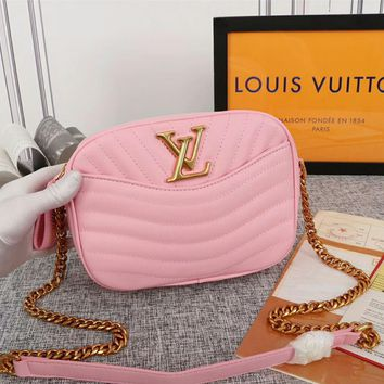 Kuyou Lv Louis Vuitton Gb29714 M53682 H24 Handbags Top Handles Louis Vuitton Pink New Wave Camera Bag 21.5x 15.5x 6.0 Cm