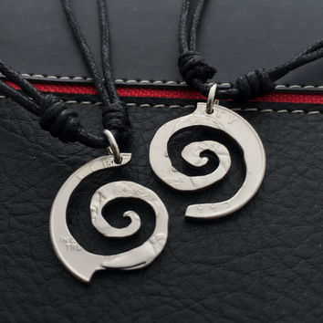 Spiral symbol, friendship,relationship,couples jewelry, necklaces