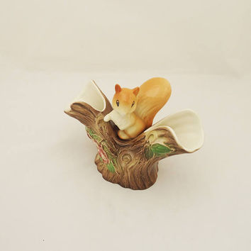 Vintage Hornsea Fauna Royal Squirrel Vase, Hornsea Fauna Pottery, Hornsea Squirrel Planter, Collectable Hornsea Fauna Ceramic