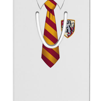 TooLoud Wizard Uniform Red and Yellow Aluminum Paper Clip Bookmark All Over Print