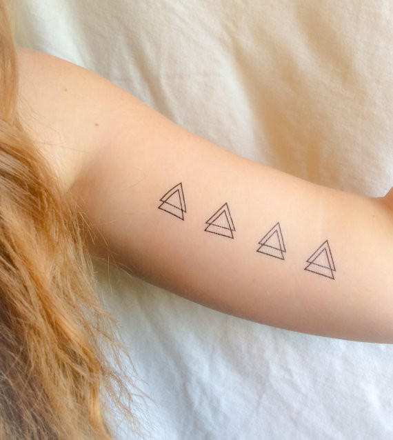 4 pack of double triangle temporary from lost generation for Generation 8 tattoo