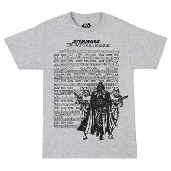 Star Wars Darth Vader Imperial March Sheet Music Licensed Adult Unisex T-Shirt