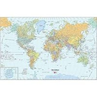 "Wall Pops World Dry-Erase Map Decal, 24"" x 36"""