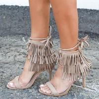 Fringe Forever Heel - Khaki - ITEM OF THE DAY