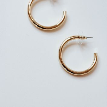 Classic Tube Earring (GOLD)