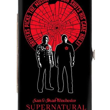 Supernatural Sam & Dean Winchester Pose Driver Picks The Music Shattered Hinge Wallet One Size